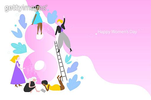International Women's Day vector banner template