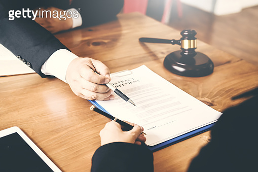 Treaty of the law. Sign a contract business.