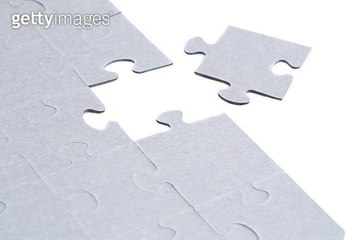 Unfinished jigsaw puzzle