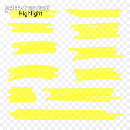 Marker lines. Vector highlighter brush lines. Hand drawing. Vector illustration