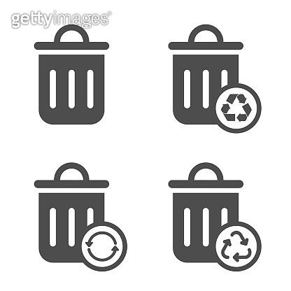 trash can vector icon