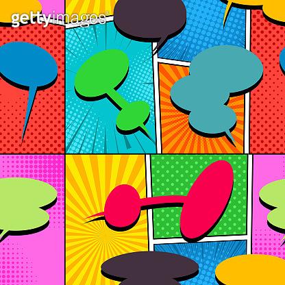 Comic bright seamless pattern