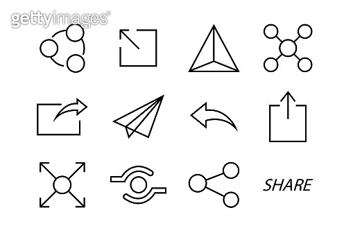 Share icons social media collection