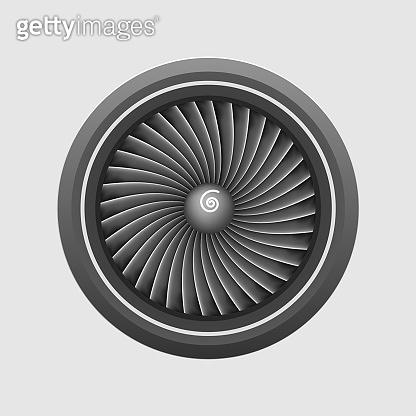 Plane engine turbine template