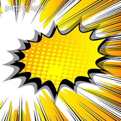 Comic book background with big colorful explosion bubble.