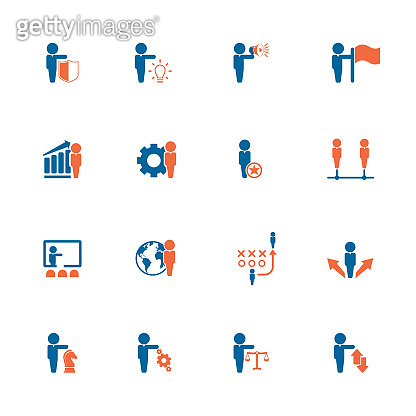 Business icon set stock