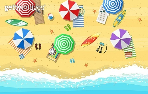 Summer Beach Vacation Sunbed