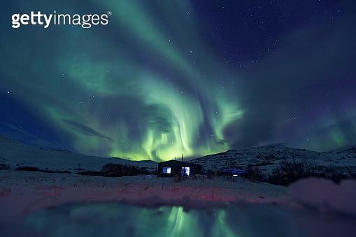 Northern lights on the Kola Peninsula