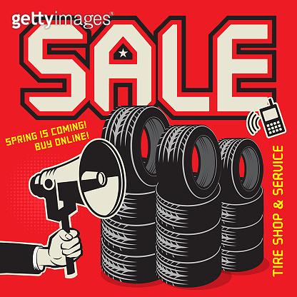 Sale, Tire Shop and Service