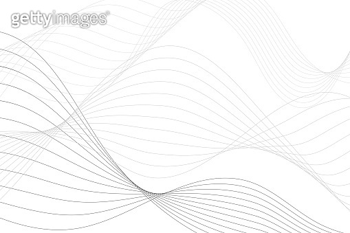 Abstract background with curved lines, wavy element on white