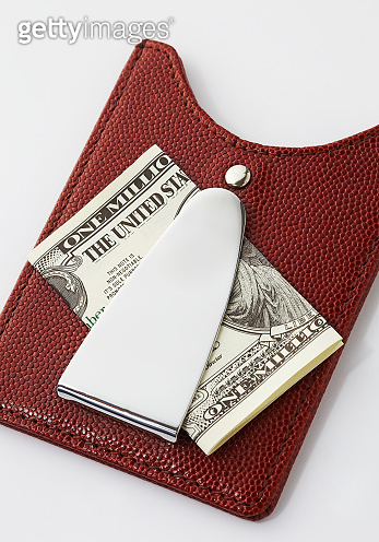 Dollar and money clip.