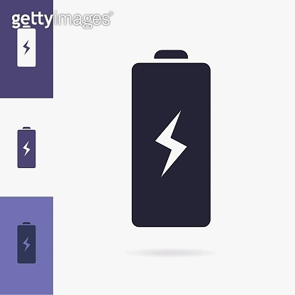 Battery vector symbol isolated on background