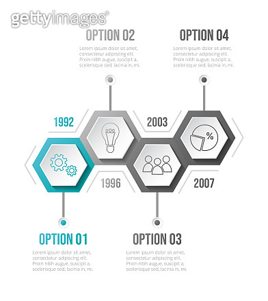 Infographic template - business timeline. Vector