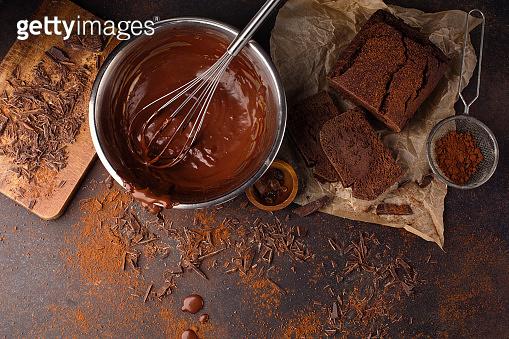 Homemade delicious chocolate zucchini cake