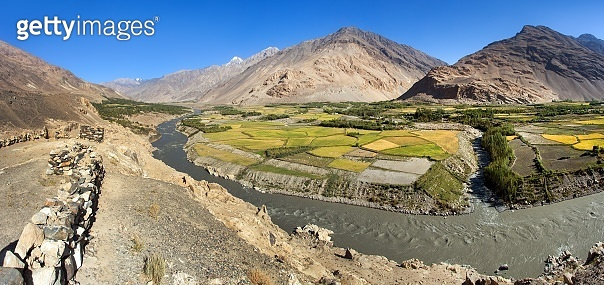 Fields aroun Panj river