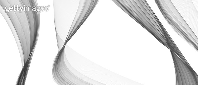 Abstract Curved Background. Template Brochure Design