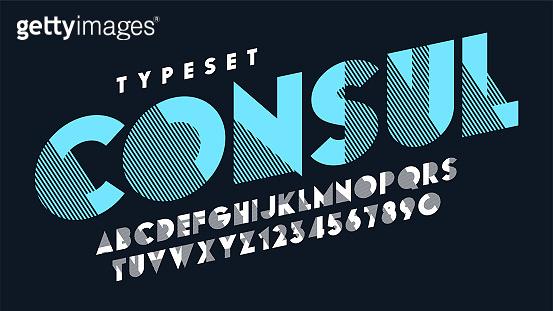 Original display font design, alphabet, typeface, letters