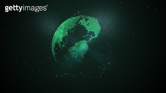 Concept of information and communication technology abstract space background.