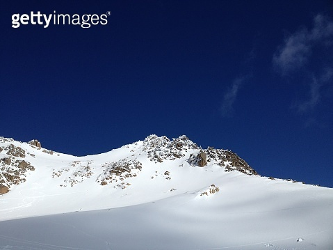 Snow-capped hill