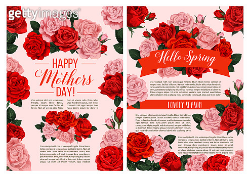 Vector spring flowers for Mother day greeting card