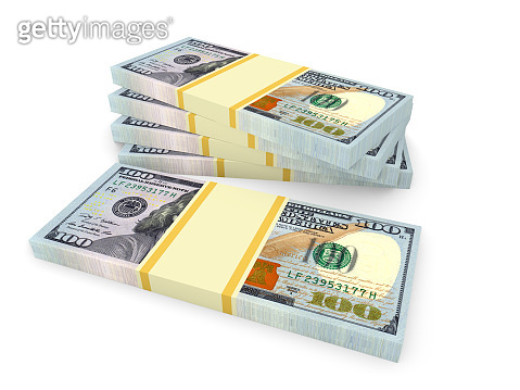 Money stack of dollars. Finance concepts