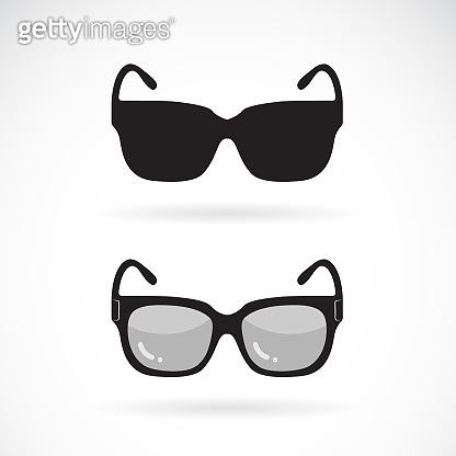 Vector of sunglasses design on white background. Sunglasses icon or logo. Easy editable layered vector illustration.