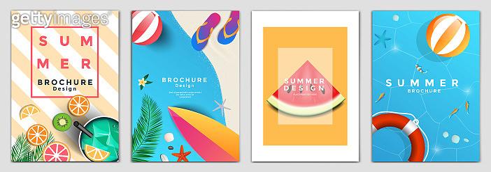 Summer Brochure Design Layout Template