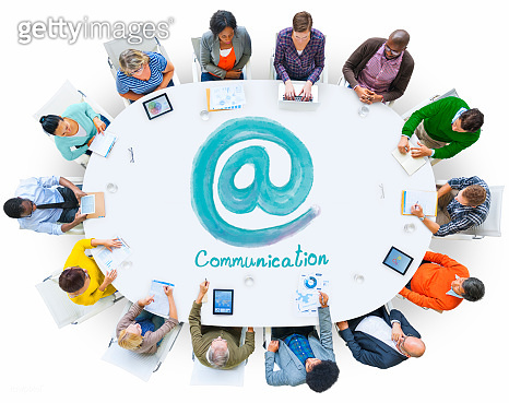 At Sign Communication Contact Connection Concept