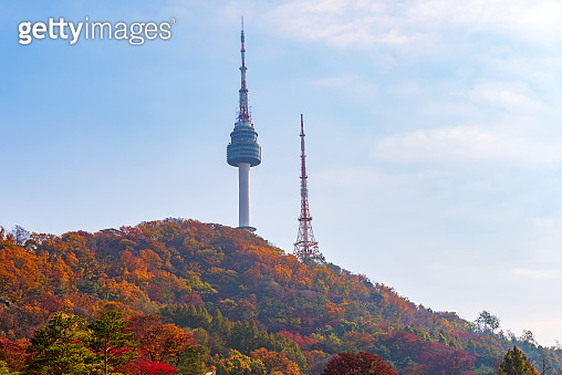 Autumn of Namsan Tower in Seoul,South Korea.