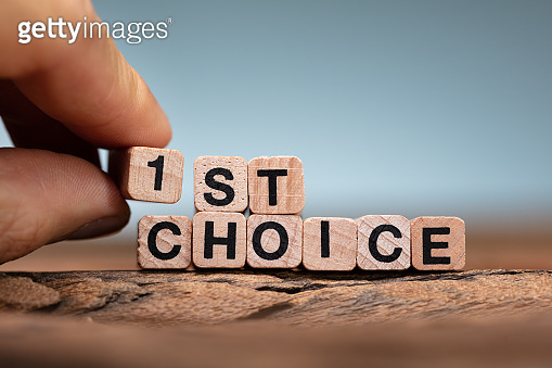 Person Holding 1 in 1st Choice