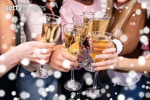 Women Celebrating A Bachelorette Party Toasting Champagne