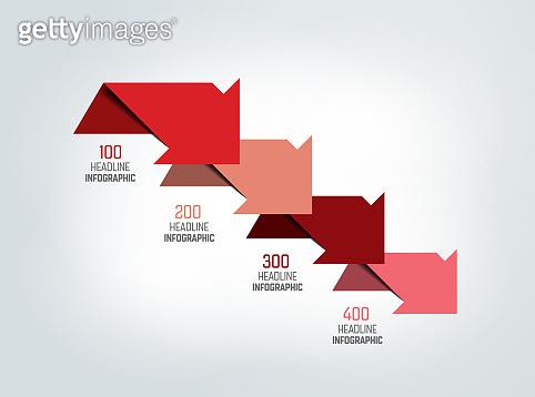 4 arrows  scheme, chart, template, infographic.