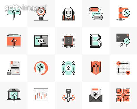 Financial Technology Futuro Next Icons