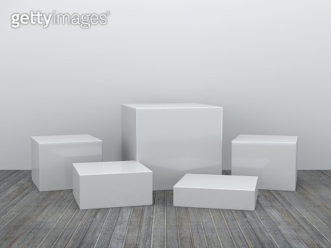 Pedestal for display,Platform for design,Blank product stand with empty room.