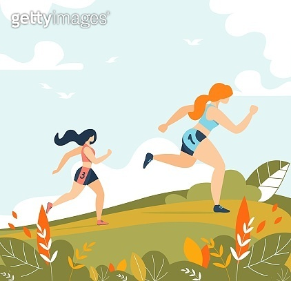 Women Running Sport Activity Training in Forest