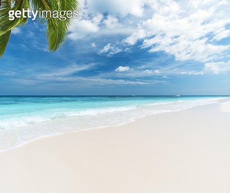Summer beach copy space scene