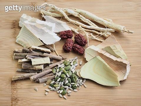Korean food samgyetang,chicken soupwithginseng, Food Ingredients