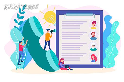 Social survay concept, recruiting, recruitment