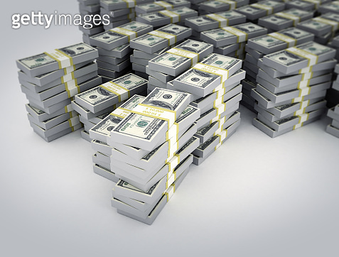Stacks of dollar. business finance background