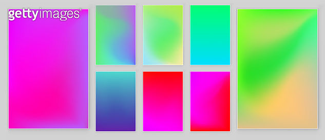 Bright colors gradient abstract background. Vector template.