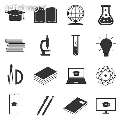 Education E learning icons