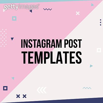 Trendy geometric templates for social media posts.