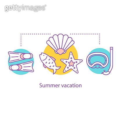 Summer vacation icon