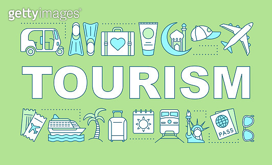 Tourism word concepts banner
