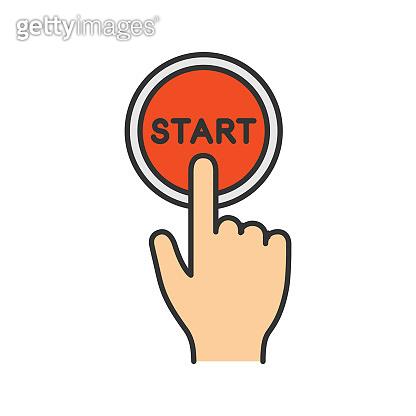 Start button click icon