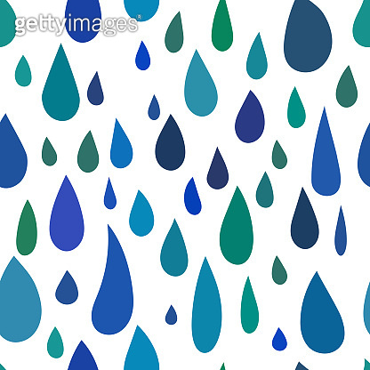 rain seamless pattern, drops