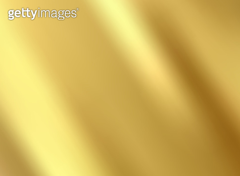 Gold satin and silk cloth fabric crease background and texture.