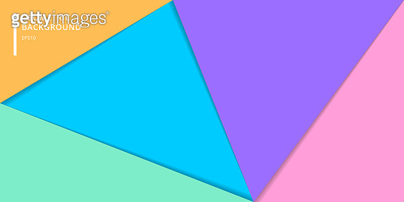 Template banner website of layered colorful paper style background. Abstract geometric triangles for cover brochure, poster, card, leaftlet, flyer, etc.