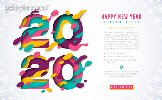 New Year 2020 banner template
