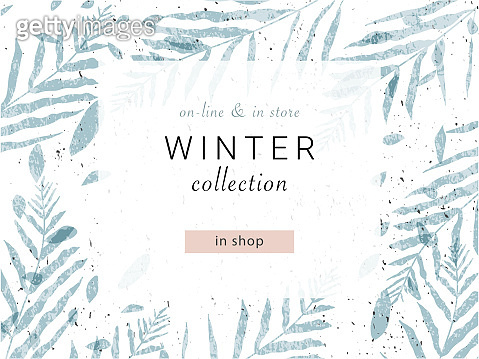 social media banner template for advertising winter arrivals collection or seasonal sales promotion.